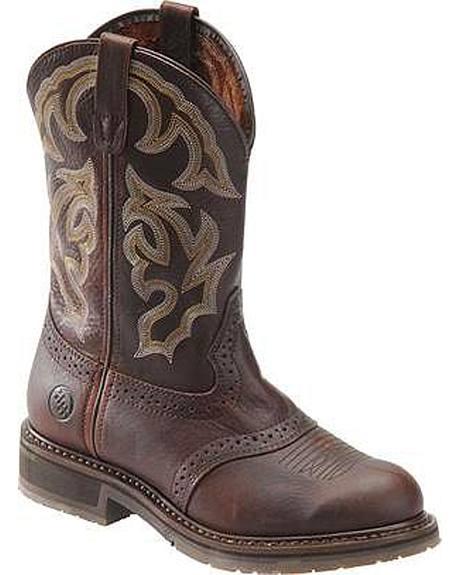 Double H Saddle Unit Bottom Work Boots - Steel Toe