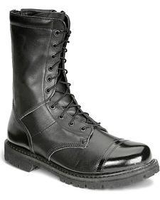 "Rocky 10"" Zipper Jump Boots - Round Toe"