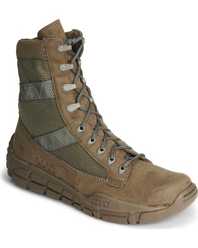 """Rocky C4T 8"""" Lace-Up Training Military Boots Round Toe Western & Country 1073"""