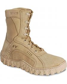"""Rocky S2V Vented 8"""" Lace-Up Military Boots - Round Toe"""