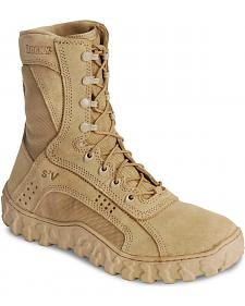 "Rocky S2V Vented 8"" Lace-Up Military Boots - Round Toe"