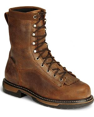 "Rocky 9"" IronClad Waterproof Work Boots - Round Toe"