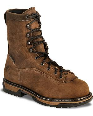 "Rocky 9"" IronClad Waterproof Work Boots - Steel Toe"