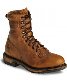 "Rocky Ride 8"" Lacer Waterproof Western Boots"
