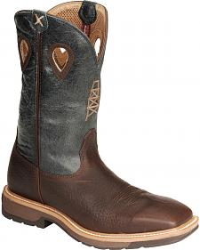Twisted X Pull-On Cowboy Work Boots - Square Toe