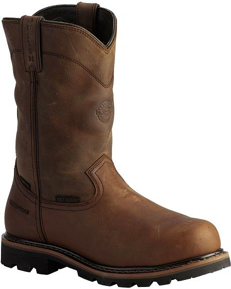 Justin Wyoming Waterproof Internal Met Guard Pull-On Work Boots - Composition Toe