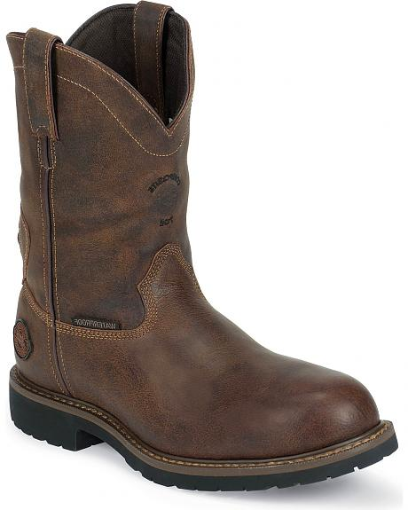 Justin Utah Pull-On Waterproof & Insulated Work Boots - Composite Toe
