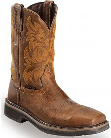 Justin Tan Tail Stampede Pull-On Work Boots - Composite Toe