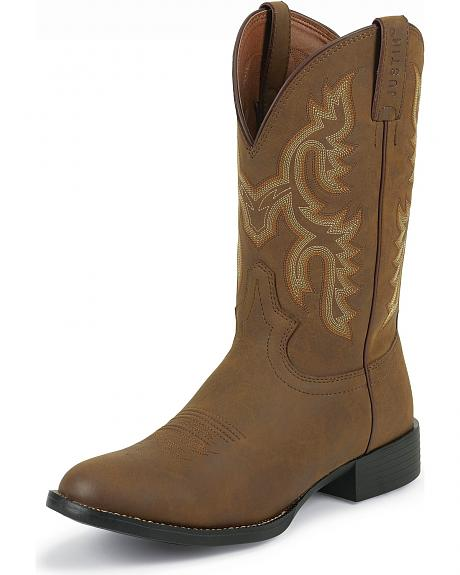 Justin Farm & Ranch Work Boot - Round Toe
