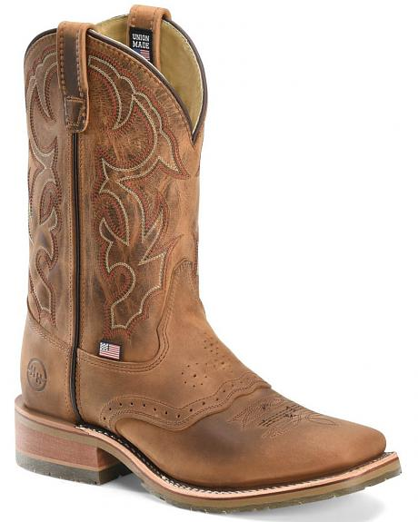 Double H ICE Roper Western Work Boots - Wide Square Toe