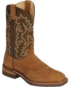 Dan Post Pitstop Saddle Work Boots - Square Toe