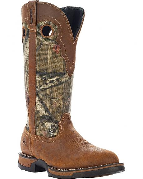 Rocky Long Range Pull-On Camo Snake Boots - Round Toe