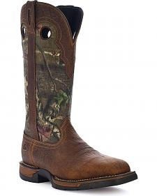 Rocky Long Range Pull-On Camo Snake Boots - Square Toe