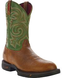 Rocky Long Range Pull-On Work Boot - Round Toe at Sheplers