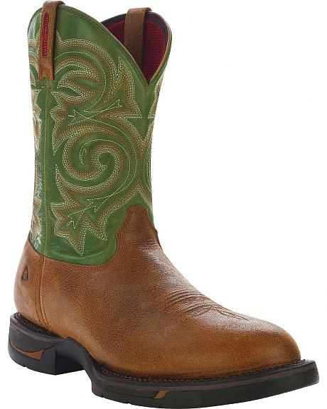 Rocky Long Range Pull-On Work Boot - Round Toe