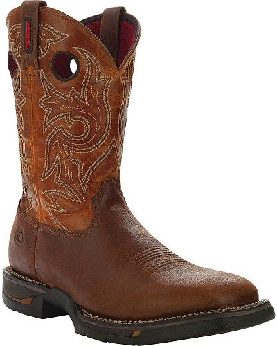 Rocky Long Range Pull-On Work Boots - Square Toe