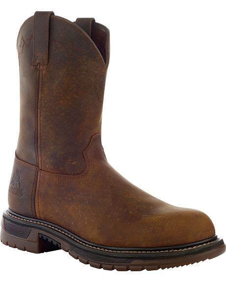 Rocky Ride Pull-On Work Boots - Steel Toe