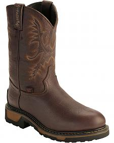 Tony Lama TLX Waterproof Insulated Pull-On Work Boots - Steel Toe