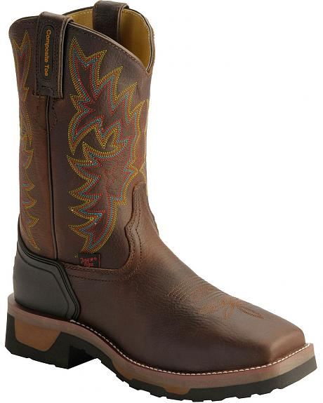 Tony Lama Men's TLX Saddle Pull-On Work Boots - Composition Toe