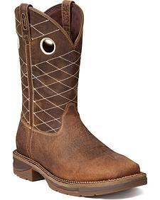 Durango Rebel Fancy Stitched Work Boots - Steel Toe