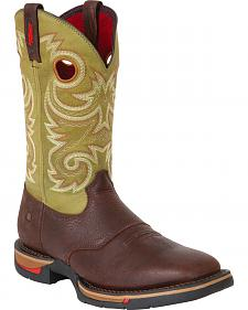 Rocky Long Range Saddle Pull-On Work Boots - Steel Toe