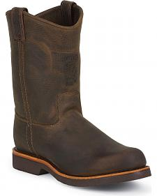 Chippewa Pull-On Work Boots - Steel Toe