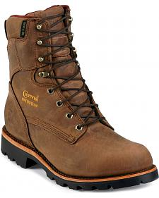 "Chippewa Insulated Waterproof 8"" Lace-Up Work Boots - Round Toe"