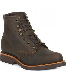 "Chippewa 6"" Lace-Up Work Boots - Round Toe"
