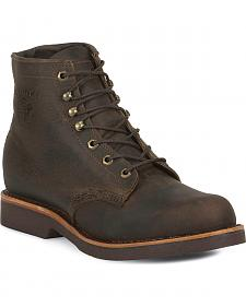 "Chippewa 6"" Lace-Up Work Boots - Steel Toe"