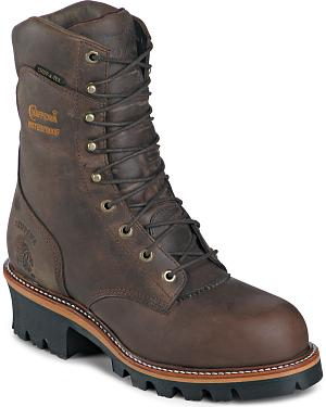 "Chippewa Insulated Waterproof Super 9"" Logger Boots - Round Toe"