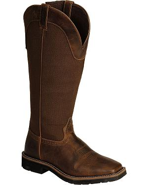 Justin Stampede Rugged Snake Boots - Square Toe
