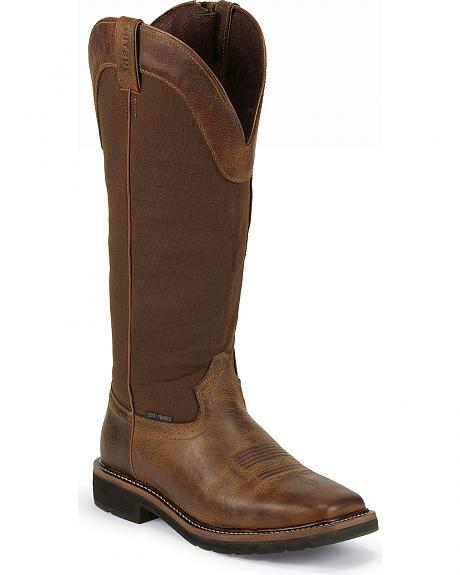 Justin Stampede Rugged Waterproof Snake Boots - Composite Toe