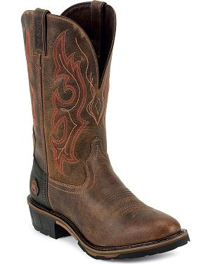 Justin Hybred Western Work Boots - Round Toe