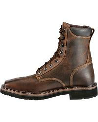 Justin Stampede Lace-Up Work Boots - Steel Toe at Sheplers
