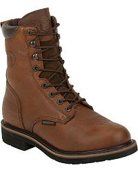 Justin Stampede Lace-Up Work Boots - Round Toe at Sheplers