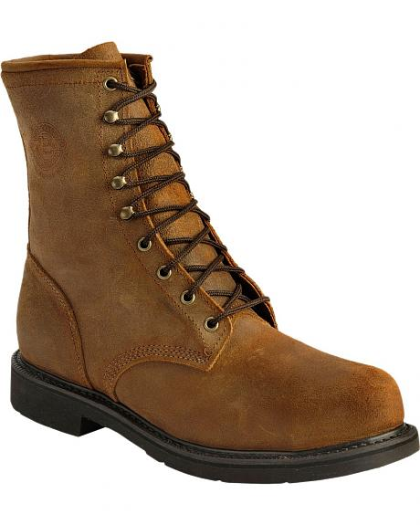 Justin American Tradition Lace-Up Work Boots - Steel Toe