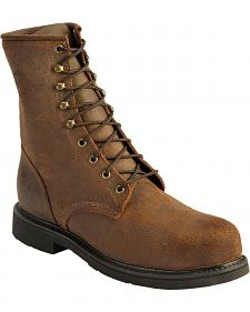 Justin American Tradition Lace-Up Work Boot - Steel Toe