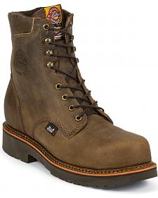 "Justin J-Max 8"" Lace-Up Work Boots - Composition Toe"