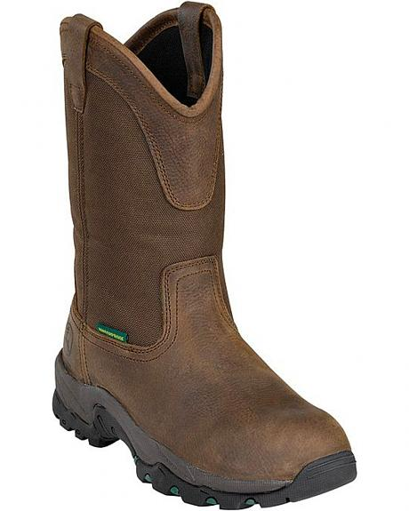 John Deere Comfort Series Waterproof Work Boots - Round Toe