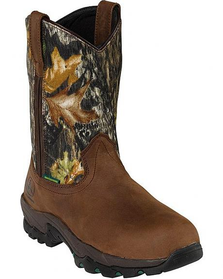 John Deere Comfort Series Waterproof Camo Work Boots - Composition Toe