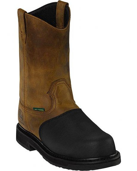 John Deere Flame Resistant Pull-On Work Boots - Composition Toe