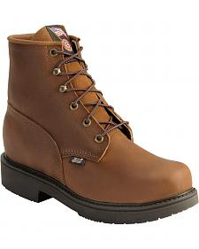 Justin Lace-Up Work Boots - Steel Toe