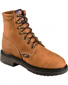 "Justin Women's 6"" Lace-up Logger Boots - Steel Toe"