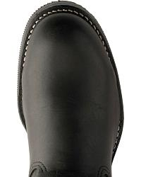 Chippewa Black Leather Bomber Motorcycle Boots at Sheplers