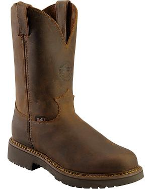 Justin Rugged Bay Gaucho J-Max Pull-On Work Boots - Round Toe