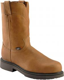 Justin Utah Western Pull-On Work Boots - Steel Toe