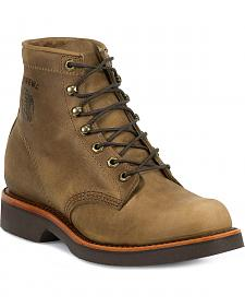 "Chippewa Classic 6"" Lace-Up Work Boots - Round Toe"