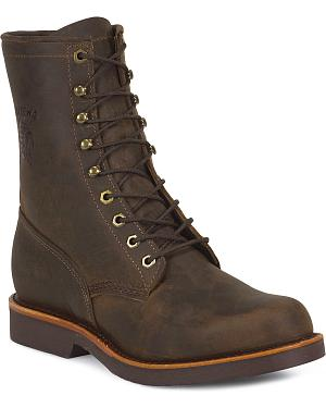 "Chippewa Classic 8"" Lace-Up Work Boots - Round Toe"
