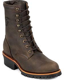 "Chippewa Classic 8"" Logger Boots - Round Toe"
