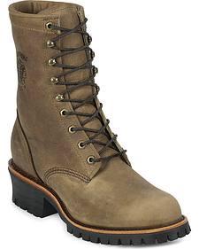 """Chippewa Classic 8"""" Logger Boots - Steel Toe"""